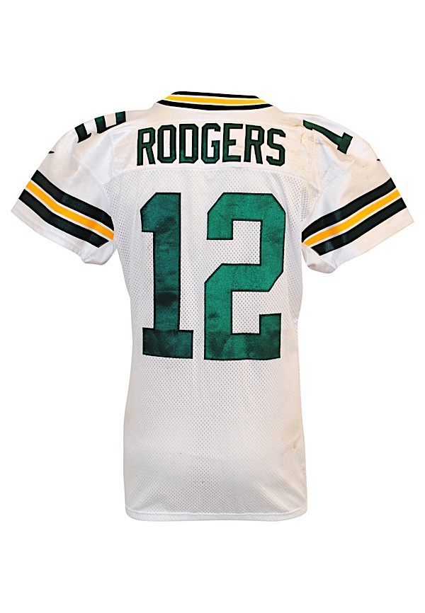 Discount Lot Detail 2012 Aaron Rodgers Green Bay Packers Game Used Road  for cheap