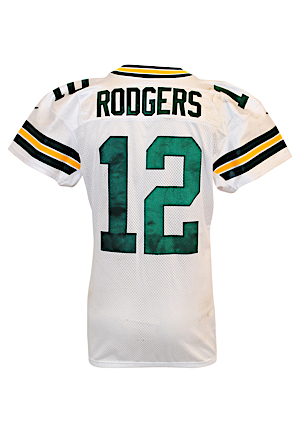 2012 Aaron Rodgers Green Bay Packers Game-Used Road Jersey (PSA/DNA • Graded 10 & Photo-Matched To 12/16/2012 • Unwashed)