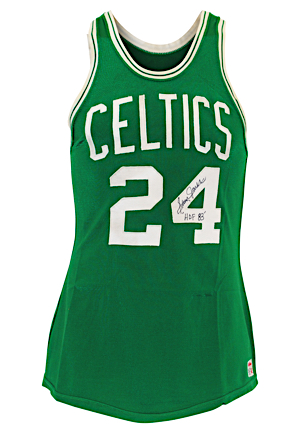 1968-1969 Sam Jones Boston Celtics NBA Finals Game-Used & Autographed Road Jersey (Graded 10 • Photo-Matched To 24 Point Game 7 Championship Clinching Performance & Final Jersey)