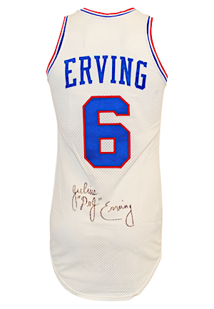 1978-79 Julius Erving Philadelphia 76ers Game-Used & Autographed Home Uniform (2)(PSA/DNA)