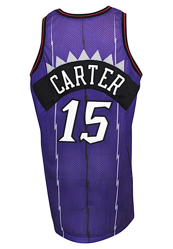 buy popular 7ca1c 96b45 Lot Detail - 1998-99 Vince Carter Toronto Raptors Rookie ...