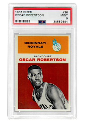 1961 Fleer Oscar Robertson #36 (PSA Graded MINT 9)