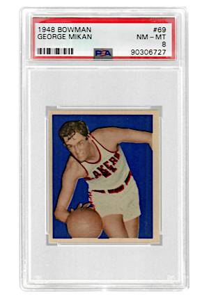 1948 Bowman George Mikan #69 (PSA Graded NM-MT 8)