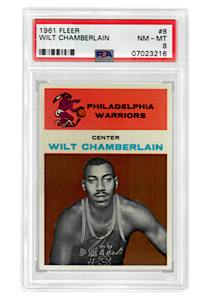 1961 Fleer Wilt Chamberlain #8 (PSA Graded NM-MT 8)