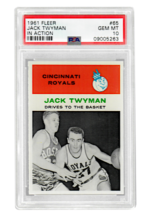 1961 Fleer Jack Twyman #65 (PSA Graded GEM MT 10 • Pop 1)