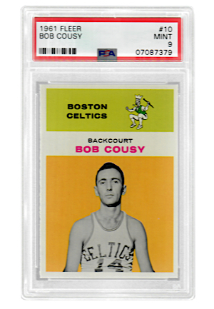 1961 Fleer Bob Cousy #10 (PSA Graded MINT 9)