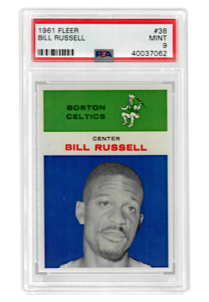 1961 Fleer Bill Russell #38 (PSA Graded MINT 9)