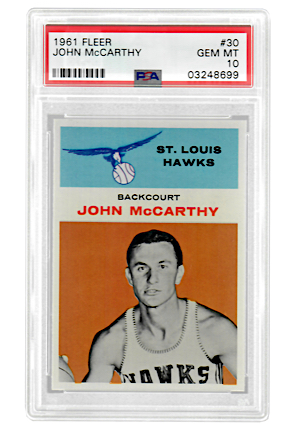 1961 Fleer John McCarthy #30 (PSA Graded GEM MT 10 • Pop 2)
