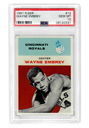 1961 Fleer Wayne Embrey #12 (PSA Graded GEM MT 10 • Pop 2)