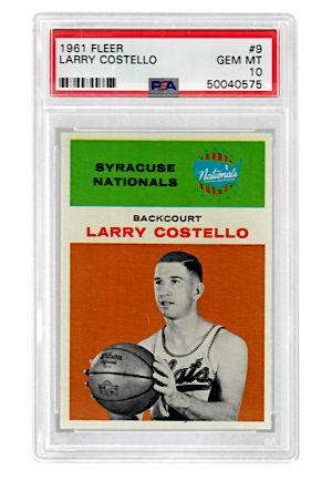 1961 Fleer Larry Costello #9 (PSA Graded GEM MT 10 • Pop 2)