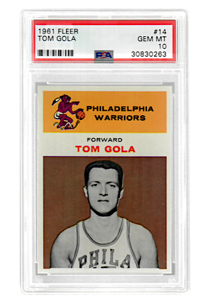 1961 Fleer Tom Gola #14 (PSA Graded GEM MT 10 • Pop 2)
