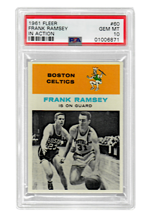 1961 Fleer Frank Ramsey #60 (PSA Graded GEM MT 10 • Pop 1)