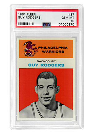 1961 Fleer Guy Rodgers #37 (PSA Graded GEM MT 10 • POP 2)