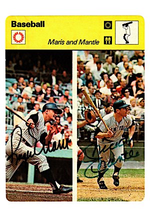 Mickey Mantle & Roger Maris Dual-Signed Full Color Photo (JSA)