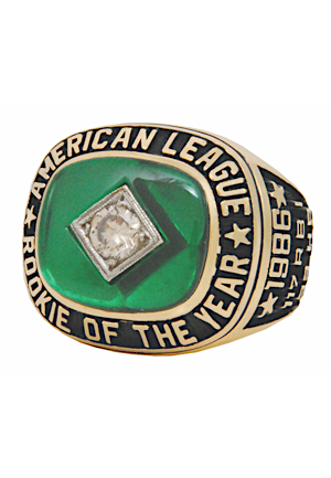 1986 Jose Canseco Oakland Athletics A.L. Rookie of the Year Ring (Canseco LOA)