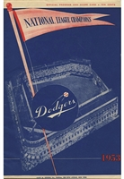 1953 Brooklyn Dodgers Official Game Programs (3)