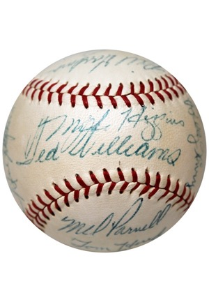 1954 & 1955 Boston Red Sox Team-Signed Official American League Baseballs (2)(JSA • 54 Features Harry Agganis)