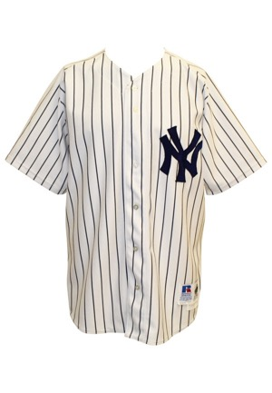 1998 Bernie Williams NY Yankees Game-Used Home Pinstripe Jersey (World Series Championship Season)
