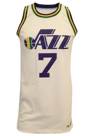 "Late 1970s ""Pistol"" Pete Maravich New Orleans Jazz Game-Used Home Jersey (Rare ""Pistol"" NOB)"