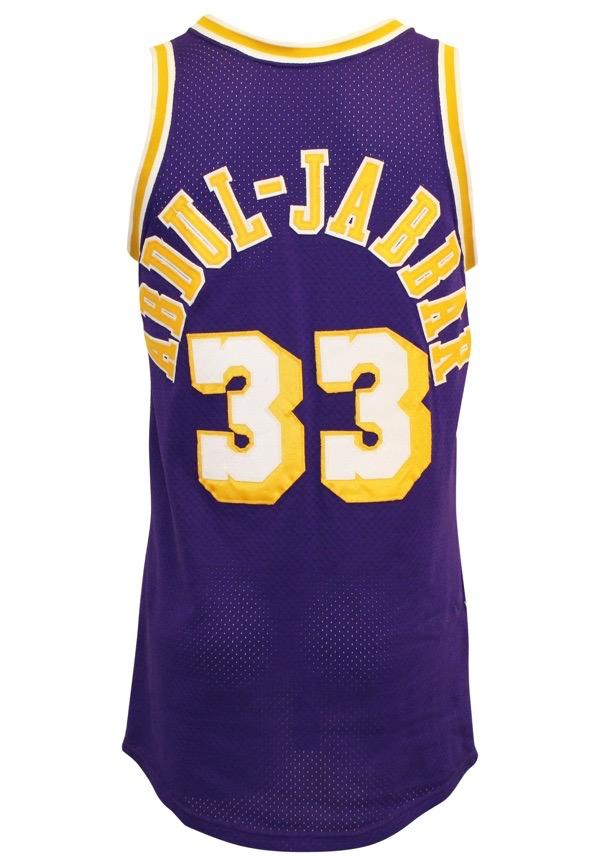 dd42630c74c Lot Detail - Circa 1985 Kareem Abdul-Jabbar Los Angeles Lakers Game ...