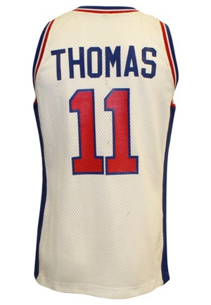1991-92 Isiah Thomas Detroit Pistons Game-Used & Autographed Home Jersey (JSA)