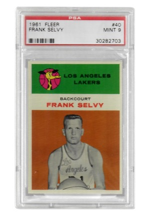 1961 Fleer Frank Selvy #40 (PSA Graded Mint 9)