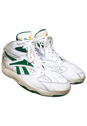 1990s Shawn Kemp Seattle SuperSonics Game-Used & Dual Autographed Sneakers (JSA)