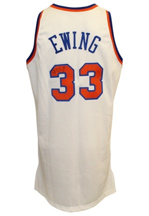 1996-97 Patrick Ewing New York Knicks Game-Used & Autographed Home Jersey (JSA)