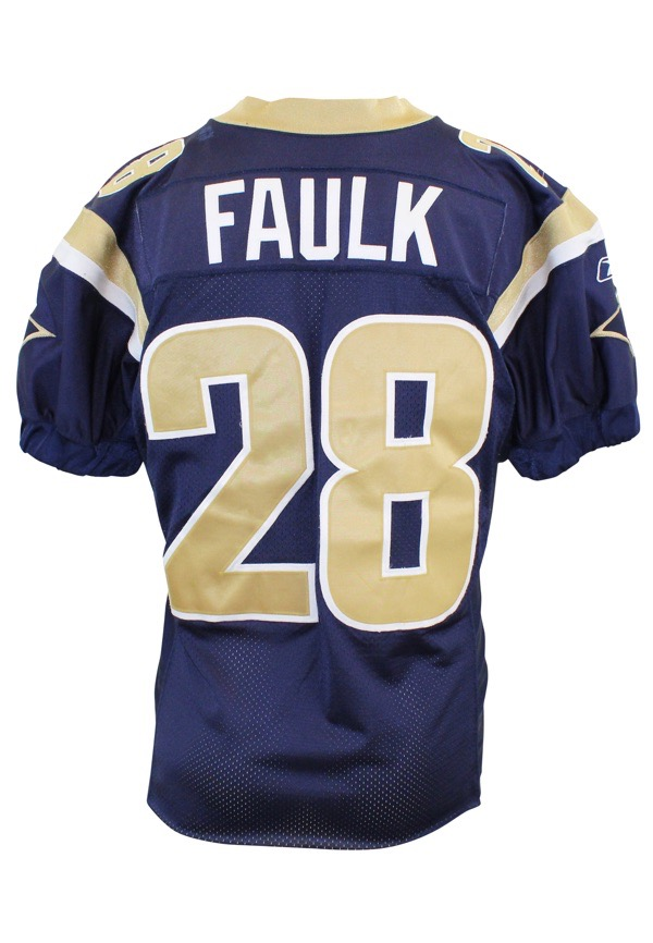 huge selection of e457f b57da Lot Detail - 2002 Marshall Faulk St. Louis Rams Game-Used ...