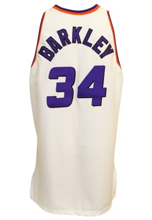 1995-96 Charles Barkley Phoenix Suns Game-Used Home Jersey
