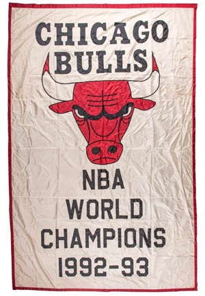 1992-93 Chicago Bulls NBA Championship Banner (Hung In Old Chicago Stadium)