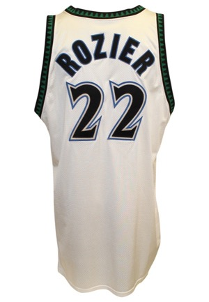 1990s Greg Foster & Clifford Rozier Minnesota Timberwolves Game-Used Home Jerseys (2)