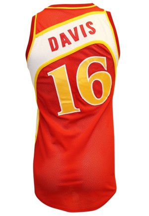 Mid 1980s Johnny Davis Atlanta Hawks Game-Used Road Jersey
