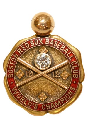 1912 Boston Red Sox Players Championship Watch Fob Presented To Larry Gardner (Family LOA)