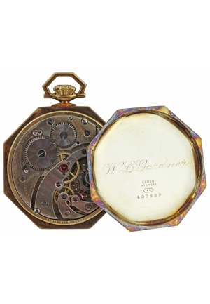 1916 Boston Red Sox Players Championship Pocket Watch Presented To Larry Gardner (Family LOA • Exceedingly Scarce)