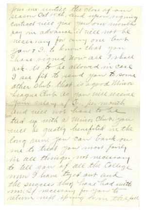 1911 Connie Mack Handwritten & Signed Letter To Larry Gardner With Baseball Content (JSA)