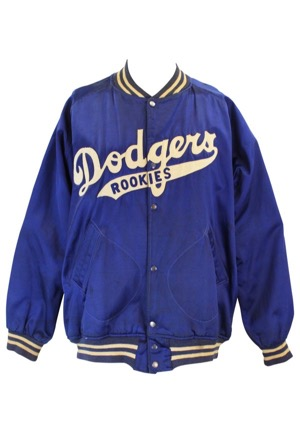 "1950s Brooklyn Dodgers Player-Worn ""Rookies"" Satin Jacket (Rare)"