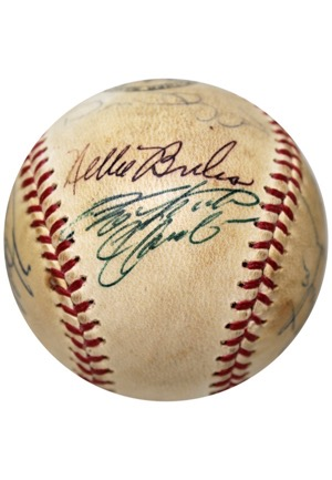 1970s Pittsburgh Pirates Team-Signed Baseball Featuring Bold Clemente (JSA)