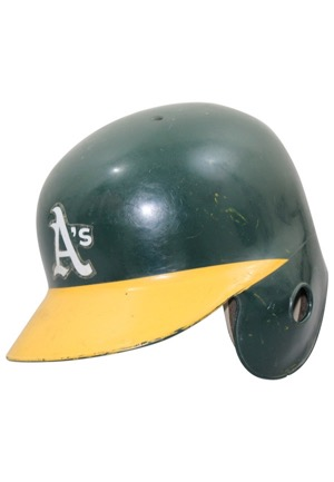 Circa 1990 Rickey Henderson Oakland As Game-Used Helmet