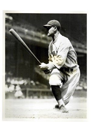 Four Type Two Black & White Baseball Photos Highlighted By Lou Gehrig (4)(Van Oeyen Stamp)