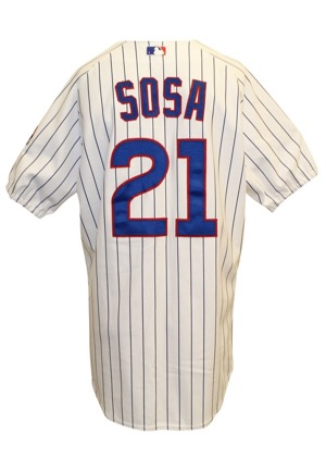 2003 Sammy Sosa Chicago Cubs Game-Used Home Uniform (2)(Cubs LOA • Graded 10)