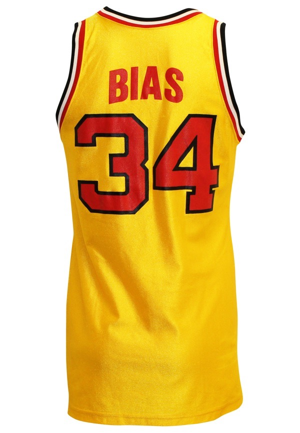 outlet store sale 73584 ffd33 Lot Detail - 1985-86 Len Bias Maryland Terrapins Game-Used ...