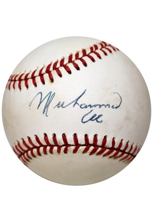 Muhammad Ali Single-Signed ONL Baseball (JSA)