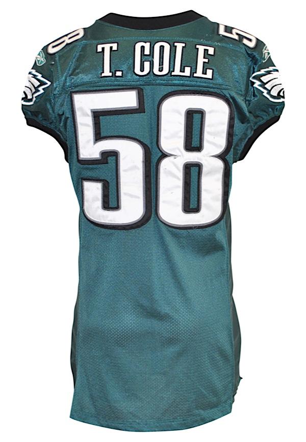 Lot Detail - 2007 Trent Cole Philadelphia Eagles Game-Used Home ...