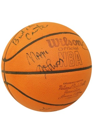 1980-81 Los Angeles Lakers Team-Signed Wilson Basketball (JSA)