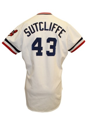 1983 Rick Sutcliffe Cleveland Indians Game-Used Home Jersey (Graded 10)