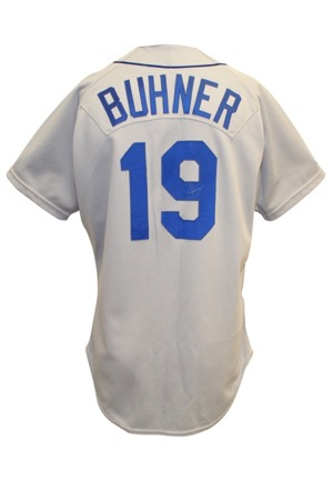 1991 Jay Buhner Seattle Mariners Game-Used & Dual-Autographed Road Jersey (JSA)