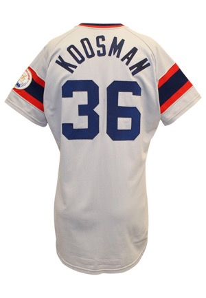 1983 Jerry Koosman Chicago White Sox Game-Used & Autographed Road Jersey (JSA • Graded 10)