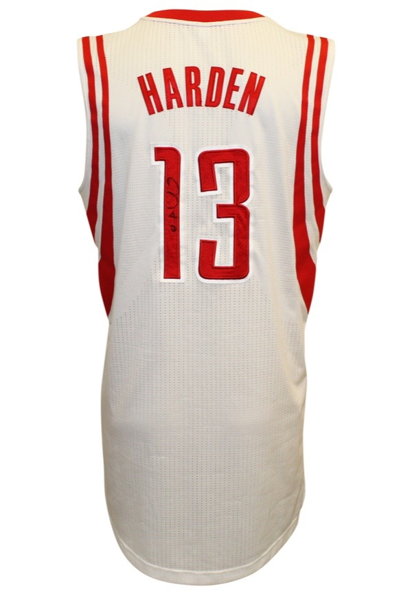 buy online 7a426 d299a Lot Detail - 2014-15 James Harden Houston Rockets Game-Used ...