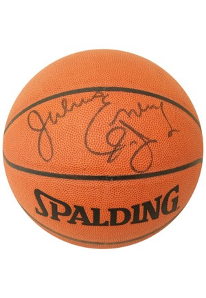 Julius Erving Single-Signed Spalding Basketball (JSA)